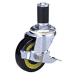Conductive Type 200Es Cask Type Conductive Wheel, Synthetic Rubber Wheel with Stopper (Packing Caster)