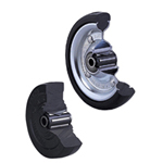 B Normal Wheel with Roller Bearing, Synthetic Rubber