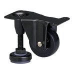 Function Type 600AF Fixed Type Synthetic Rubber Wheel with Adjuster Foot (Packing Caster)