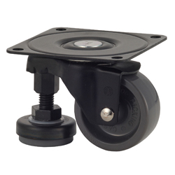 Function Type 100AF-N Truck Type Nylon Wheel with Adjuster Foot (Packing Caster)