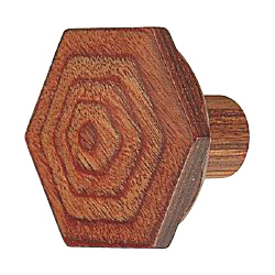 Wood Hexagon Knob