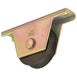 S45C Heavy-Duty Door Roller with Rounded Grooved Wheel