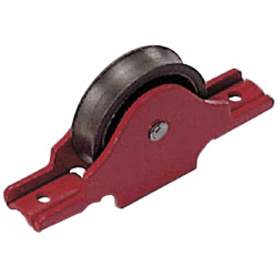 Round Type / Sleeved Round Type / Sleeved Flat Type 2 mm Thick Door Roller with Red Frame