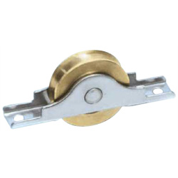 Round / Flat Type Brass Door Roller with Bearings