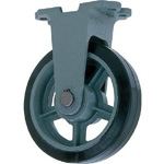 Fixed Wheel with Rubber Wheel for Heavy Loads (HB-k Type) FCD Ductile Hardware