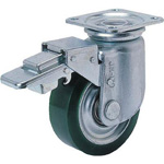 Urethane Rubber Wheel for Heavy Loads with Stopper, Swivel Wheel (RJMB Type)