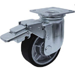 MC Nylon Wheel for Heavy Loads with Stopper, Swivel Wheel (RRJMB Type)