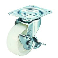 LG-S Model Swivel Wheel Plate Type (With Stopper)