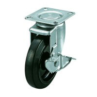 Silent Caster Swivel Plate Type (with Stopper)