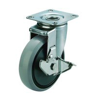 SUS-J2-S Type Swivel Wheel Plate Type (with Stopper)
