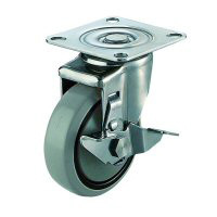 SUS-SJ-S Type Swivel Wheel Plate Type (with Stopper)