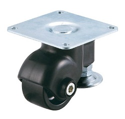 Caster with Adjuster Foot Type Swivel Wheel Plate Type (for Light Loads)