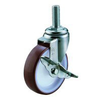 SUS-ET-S Model Swivel Wheel Screw-In Type (With Stopper)