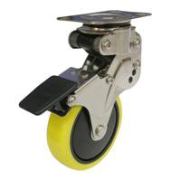 NPG Type Swivel Wheel Plate Type Anti-Static Urethane Wheel (with Stopper)