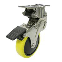 NPR Type Fixed Wheel Plate Type / Anti-Static Urethane Wheel (with Stopper)