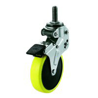 NPT Type Swivel Wheel Screw-in Type Anti-Static Urethane Wheel (with Stopper)