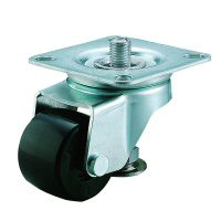 Caster with Adjuster Foot Swivel Caster, Plate Type