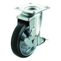 J2-S Type Swivel Wheel Plate Type (with Stopper)