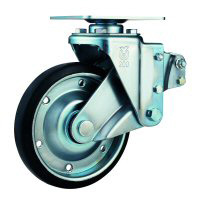SKY-S Type Swivel Wheel (Radial Ball Bearing) Plate Type (with Stopper)