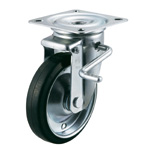 PMS-LB Type Swivel Wheel Plate Type with Lever Type Double Stopper