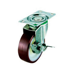 SUS-E-S Type Swivel Wheel Plate Type (with Stopper)