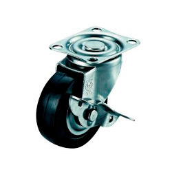 SUS-SG-S Type Swivel Wheel Plate Type (with Stopper)