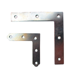 Bright Chromate Flat Side Corner Metal Bracket